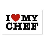 I Love My Chef Rectangle Sticker
