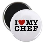 I Love My Chef Magnet