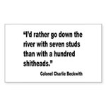Beckwith Seven Studs Quote Rectangle Sticker 10 p