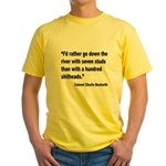Beckwith Seven Studs Quote (Front) Yellow T-Shirt