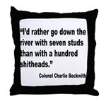 Beckwith Seven Studs Quote Throw Pillow