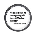Beckwith Seven Studs Quote Wall Clock