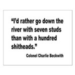 Beckwith Seven Studs Quote Small Poster