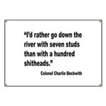 Beckwith Seven Studs Quote Banner