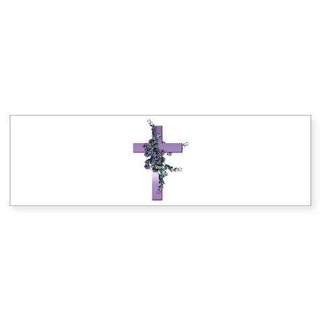 Purple Cross Bumper Sticker