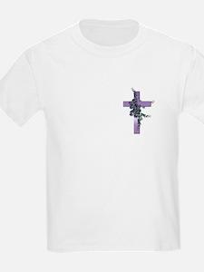 Purple Cross Kids T-Shirt