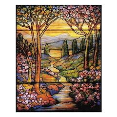 Tiffany Landscape Unframed Print