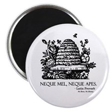 Latin Bees Proverb Magnet