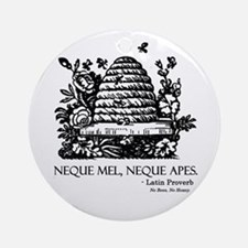 Latin Bees Proverb Ornament (Round)