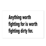 Worth Fighting Dirty Quote Postcards (Package of 8