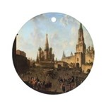 Red Square Moscow Ornament (Round)