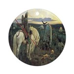 Knight At Crossroads Ornament (Round)