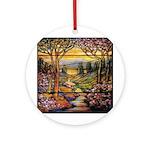 Tiffany Landscape Ornament (Round)