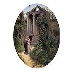 Grandmother's Garden Oval Ornament