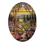 Tiffany Landscape Oval Ornament