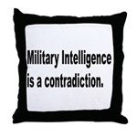 Military Intelligence Throw Pillow