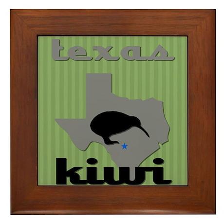 Texas Kiwi Framed Tile