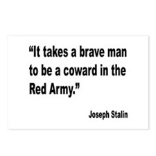 Stalin Brave Red Army Quote Postcards (Package of