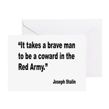 Stalin Brave Red Army Quote Greeting Card