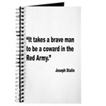 Stalin Brave Red Army Quote Journal