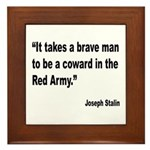 Stalin Brave Red Army Quote Framed Tile
