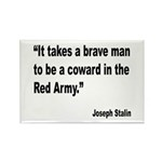 Stalin Brave Red Army Quote Rectangle Magnet (10 p