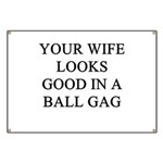 ball gag gifts t-shirts Banner