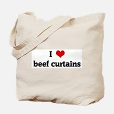 I Love beef curtains Tote Bag