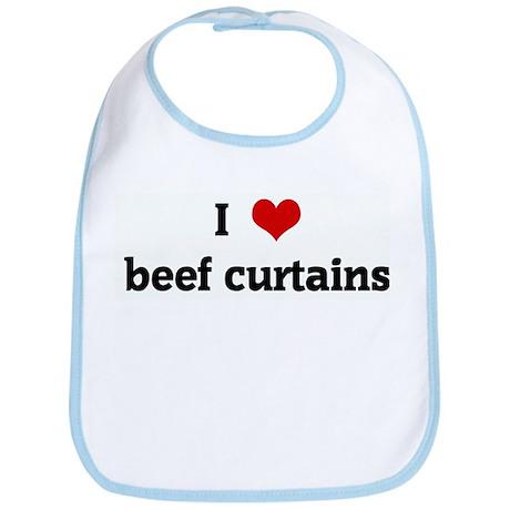 I Love beef curtains Bib