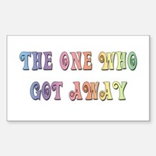 """""""The One Who Got Away"""" Rectangle Decal"""
