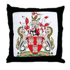 Newcastle Upon Throw Pillow