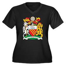 Manchester Coat of Arms Women's Plus Size V-Neck D
