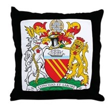 Manchester Coat of Arms Throw Pillow