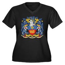 Lancaster Coat of Arms Women's Plus Size V-Neck Da