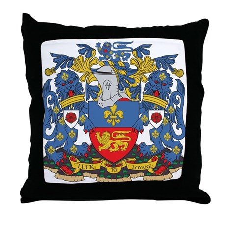 Lancaster Coat of Arms Throw Pillow