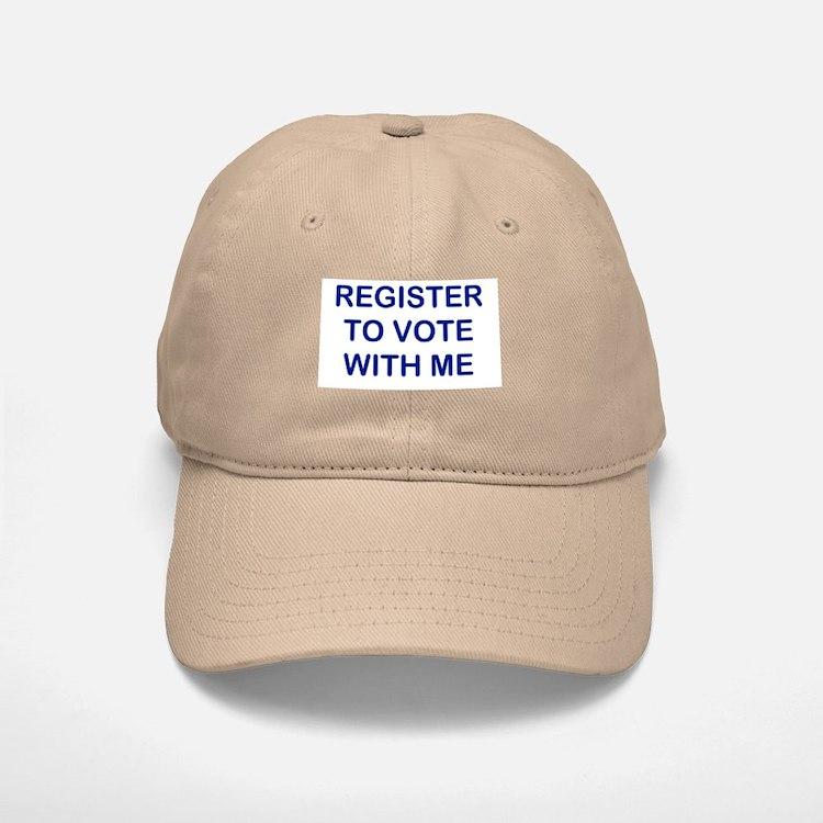 """Register to Vote With Me"" Baseball Baseball Cap"