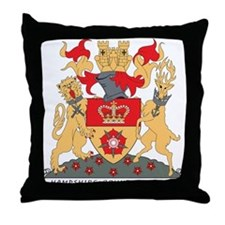 Hampshire Coat of Arms Throw Pillow