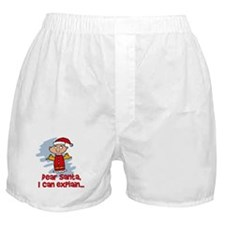 Dear Santa Bad Angel Boxer Shorts