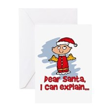 Dear Santa Bad Angel Greeting Card