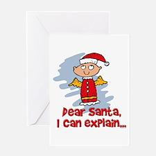 Dear Santa Bad Angel Greeting Card