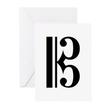 C Clef Greeting Cards (Pk of 10)