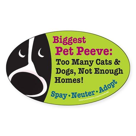 Pet Peeves Oval Sticker