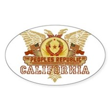 Peoples Rep Of CA Oval Decal