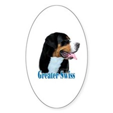 Swissy Name Oval Decal