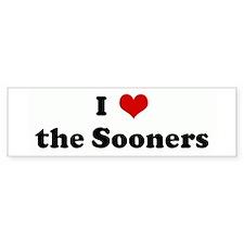 I Love the Sooners Bumper Bumper Sticker