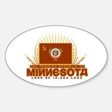 Republic of MN Oval Decal