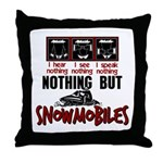 Nothing but Snowmobiles Throw Pillow