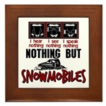Nothing but Snowmobiles Framed Tile
