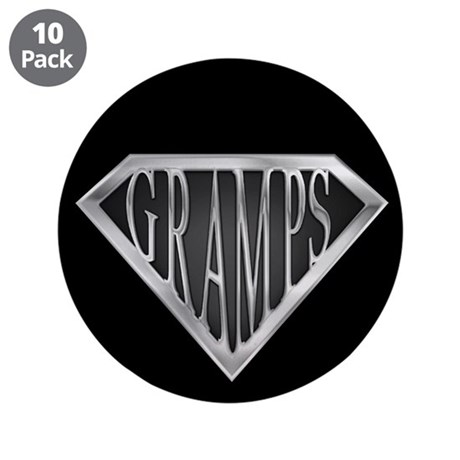 "SuperGramps(metal) 3.5"" Button (10 pack)"