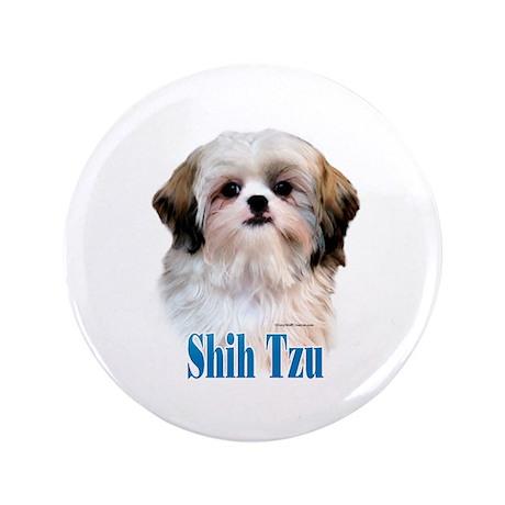 """Shih Tzu Name 3.5"""" Button"""